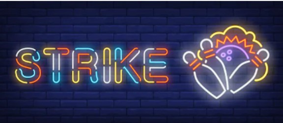 "Bowling ""Strike"" Neon Sign"
