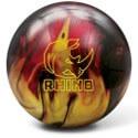Brunswick Rhino Red-Black-Gold Pearl Bowling Ball
