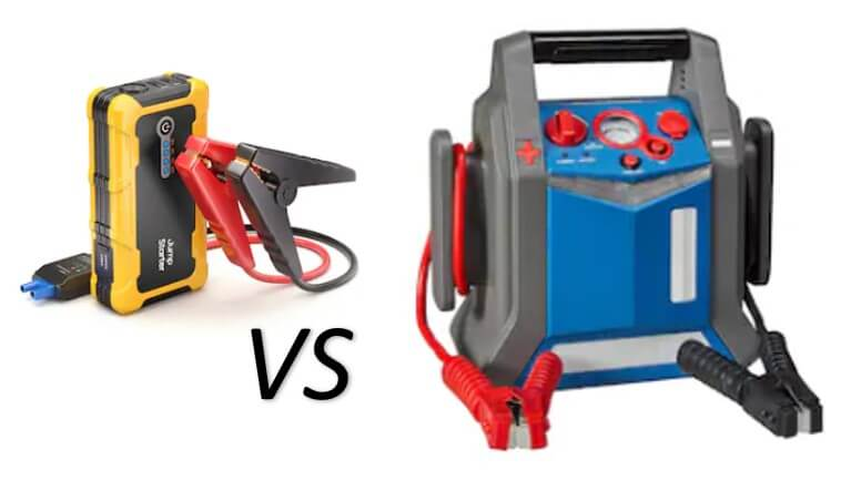 Lithium vs lead acid jump starter