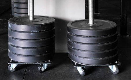 un-nested dumbbells need storage