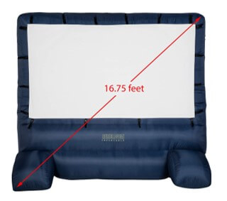 jumbo inflatable outdoor projector screen