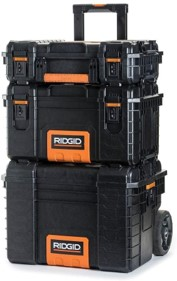 Ridgid professional tool storage cart - stackable