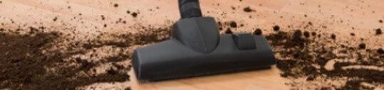Vacuuming Dirt