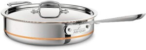 all clad copper core saute pan (stainless steel)