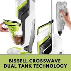 Bissell CrossWave Dual Tank Technology Dirty and Clean Tank