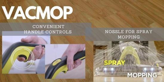 Shark VACMOP Handle Controls and Spray Mopping
